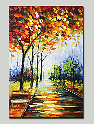 cheap -Mintura® Hand Painted Abstract Knife Landscape Oil Painting on Canvas Modern Wall Art Pictures for Home Decoration Ready To Hang