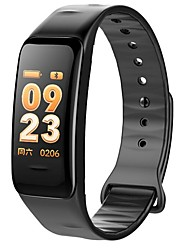 cheap -Smart Bracelet Smartwatch C1S for iOS / Android Waterproof / Blood Pressure Measurement / Calories Burned / Touch Screen / Creative Pedometer / Call Reminder / Activity Tracker / Sleep Tracker