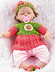 cheap -FeelWind Reborn Doll Girl Doll Baby Girl 18 inch lifelike Eco-friendly Hand Made Child Safe Non Toxic Parent-Child Interaction Kid's Girls' Toy Gift