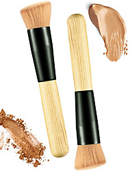 cheap -Professional Makeup Brushes Blush Brush 2pcs Eco-friendly Professional Soft Comfy Synthetic Hair Wooden for