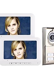 Недорогие -MOUNTAINONE 2 Apartments  Video Door Phone Кабель 7 дюймовый Гарнитура 480*234 пиксель От одного до двух видеодомофонов