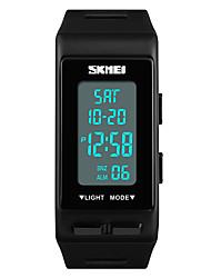 cheap -SKMEI Women's Sport Watch Japanese Digital Quilted PU Leather Black / White / Blue 30 m Water Resistant / Waterproof Alarm Calendar / date / day Digital Casual Fashion - Red Green Blue One Year