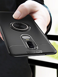 cheap -Case For OnePlus OnePlus 6 Ring Holder Back Cover Solid Colored Soft TPU