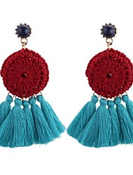 cheap -Women's Drop Earrings Chandelier Ladies Vintage Fashion Earrings Jewelry Coffee / Rainbow / Blue For Daily Evening Party 1 Pair