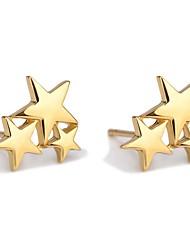 cheap -Women's Stud Earrings Sculpture Star Ladies Ethnic Fashion Cute Earrings Jewelry Black / Gold / Silver For School Date 1 Pair
