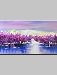 cheap -Mintura® Hand-Painted Modern Abstract Landscape Oil Paintings On Canvas Wall Art Pictures For Home Decoration Ready To Hang
