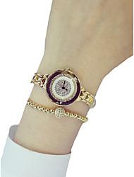 cheap -Women's Dress Watch Diamond Watch Gold Watch Japanese Quartz Stainless Steel Silver 50 m Creative Analog Ladies Elegant - Gold Silver One Year Battery Life