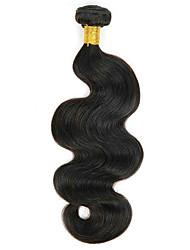 Недорогие -1 комплект Бразильские волосы Волнистый Натуральные волосы 100 g Накладки из натуральных волос 8-28 дюймовый Естественный цвет Ткет человеческих волос Удлинитель Расширения человеческих волос / 8A