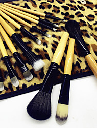 cheap -Professional Makeup Brushes Makeup Brush Set 12pcs Eco-friendly Professional Soft Full Coverage Leopard Print Artificial Fibre Brush Wooden / Bamboo for