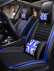 Недорогие -универсальная мультипликационная пятиместная автомобильная подушка на четыре сезона / искусственная кожа / два подголовника / две подушки для талии / одна втулка рулевого колеса