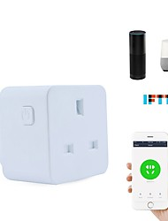 cheap -Smart Socket Timing Function / Easy to Use / No-Hub Required 1pack ABS+PC / 750°C Plug-in WiFi-Enabled / APP / Voice Control Amazon Alexa Echo / Google Assistant