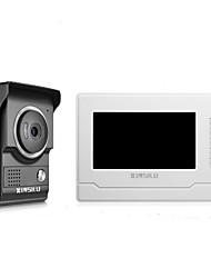Недорогие -xinsilu безопасности 7-дюймовый проводной видеодомофон домофон домофон домофон система контроля доступа xsl-v70n-l-black цветная наружная камера