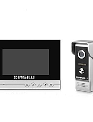 cheap -XINSILU® Security 7inch Wired Video Door Phone Doorbell Intercom Door Access Control System XSL-V70R-M4