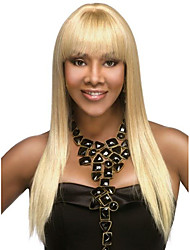 cheap -Virgin Human Hair Full Lace Wig Bob Straight bangs Minaj style Brazilian Hair Straight Blonde Wig 150% Density 12-24 inch with Baby Hair With Bangs Women's Medium Length Human Hair Lace Wig