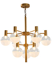 cheap -12 Bulbs LWD 65 cm Creative / New Design Chandelier Metal Glass Sputnik Antique Brass Artistic / Retro 90-240V
