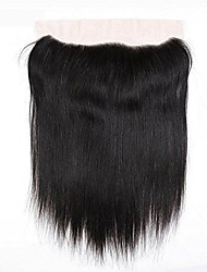 cheap -Yavida Brazilian Hair 4x13 Closure Straight Free Part Swiss Lace Human Hair Women's / All Classic / Woven / Natural Christmas Gifts / Party / Evening / Dailywear