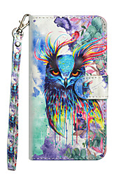 cheap -Case For Apple iPhone X / iPhone 8 Plus / iPhone 8 Wallet / Card Holder / with Stand Full Body Cases Animal / Owl Hard PU Leather