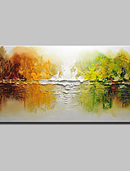 cheap -Mintura® Hand-Painted Abstract Palette Knife Oil Painting On Canvas Modern Wall Art Picture For Home Decoration Ready To Hang