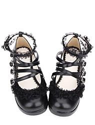 cheap -Women's Lolita Shoes Sweet Lolita Classic Lolita Creepers Shoes Solid Colored 3 cm Black PU(Polyurethane) Halloween Costumes