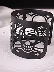 cheap -Women's Cuff Bracelet Mismatched Skull Punk Rock Alloy Bracelet Jewelry Gold / Black / Silver For Carnival Club