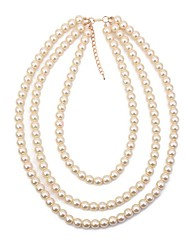 cheap -Women's Necklace Pearl Strands Long Necklace Layered Statement Ladies Vintage Fashion Imitation Pearl Alloy White 40+5 cm Necklace Jewelry 1pc For Evening Party Birthday