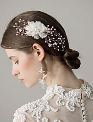 cheap -Imitation Pearl Hair Combs with Flower 1 Piece Wedding / Party / Evening Headpiece