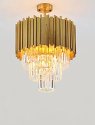 abordables -QIHengZhaoMing 4 lumières Cristal Lustre Lumière d'ambiance Finitions Peintes Métal 110-120V / 220-240V Blanc Crème Ampoule incluse
