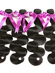 cheap -4 Bundles Malaysian Hair Wavy Human Hair Natural Color Hair Weaves / Hair Bulk Human Hair Extensions 8-28 inch Natural Color Human Hair Weaves Fashionable Design Best Quality Hot Sale Human Hair / 8A