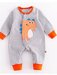 cheap -Baby Boys' Active / Basic Daily Patchwork Animal Pattern Long Sleeve Cotton Romper Green