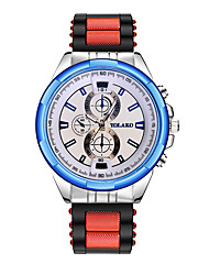 cheap -Men's Wrist Watch Quartz Silicone Black / Blue / Red Casual Watch Analog Classic Fashion - Blue White / Blue Black / Gray