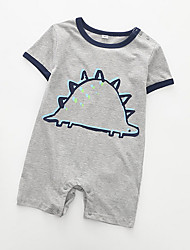 cheap -Baby Boys' Basic Print Short Sleeves Romper Navy Blue