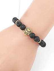cheap -Women's Natural Stone Bead Bracelet Bracelet Ball Animal Ladies Vintage Fashion Stone Bracelet Jewelry Gold / Silver For Gift Daily Street