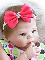 Недорогие -NPKCOLLECTION NPK DOLL Куклы реборн Кукла для девочек Девочки 24 дюймовый Полный силикон для тела Винил - как живой Подарок Искусственные имплантации Голубые глаза Детские Девочки Игрушки Подарок