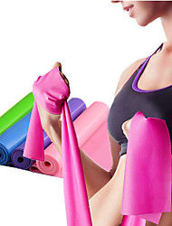cheap -Exercise Resistance Bands Emulsion Stretchy Strength Training Physical Therapy Yoga Pilates Fitness For Home Office