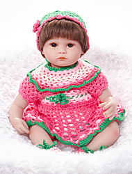 cheap -FeelWind Reborn Doll Girl Doll Baby Girl 18 inch lifelike Hand Made Child Safe Non Toxic Parent-Child Interaction Hand Rooted Mohair Kid's Girls' Toy Gift / Natural Skin Tone