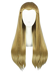 cheap -Cosplay Movie / TV Theme Costumes Cosplay Wigs All 26 inch Heat Resistant Fiber Brown Anime