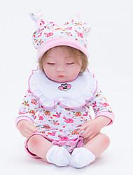 Недорогие -FeelWind 18 дюймовый Куклы реборн Кукла для девочек Девочки Новорожденный как живой Ручная работа Безопасно для детей Non Toxic с одеждой и аксессуарами / Взаимодействие родителей и детей