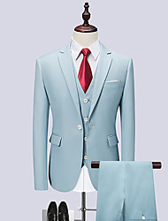 cheap -Tuxedos Standard Fit Notch Single Breasted One-button Cotton Blend / Polyester Solid Colored