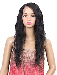 cheap -Synthetic Wig Synthetic Lace Front Wig Wavy Side Part Lace Front Wig Medium Length Black#1B Synthetic Hair Women's Synthetic Best Quality New Arrival Black Laflare