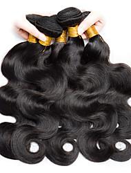 cheap -6 Bundles Malaysian Hair Wavy Human Hair Natural Color Hair Weaves / Hair Bulk Human Hair Extensions 8-28 inch Natural Color Human Hair Weaves Fashionable Design Best Quality For Black Women Human