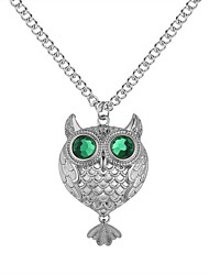 cheap -Women's Pendant Necklace Long Owl Ladies Fashion Glass Alloy Gold Silver 62+5 cm Necklace Jewelry 1pc For Daily School