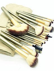 cheap -Professional Makeup Brushes Makeup Brush Set 18pcs Eco-friendly Professional Soft Full Coverage Comfy Artificial Fibre Brush Wooden / Bamboo for