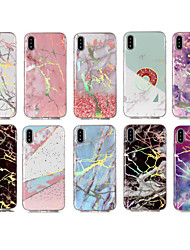 cheap -Case For Apple iPhone X / iPhone 8 Plus / iPhone 8 IMD / Pattern Back Cover Marble Soft TPU