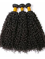 cheap -3 Bundles Brazilian Hair Curly Human Hair Natural Color Hair Weaves / Hair Bulk Human Hair Extensions 8-28 inch Natural Color Human Hair Weaves Fashionable Design Best Quality For Black Women Human