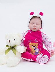 cheap -FeelWind 22 inch Reborn Doll Girl Doll Baby Girl Reborn Baby Doll Newborn lifelike Hand Made Child Safe Non Toxic with Clothes and Accessories for Girls' Birthday and Festival Gifts