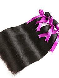 cheap -3 Bundles Malaysian Hair Straight Human Hair Natural Color Hair Weaves / Hair Bulk Human Hair Extensions 8-28 inch Natural Color Human Hair Weaves Fashionable Design Best Quality New Arrival Human