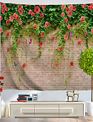 cheap -Novelty / Holiday Wall Decor Polyester Classic / Vintage Wall Art, Wall Tapestries Decoration