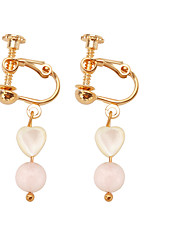 cheap -Women's Drop Earrings Long Heart Ladies Sweet Fashion Resin Earrings Jewelry Gold For Wedding Masquerade Engagement Party Prom School Promise 1 Pair