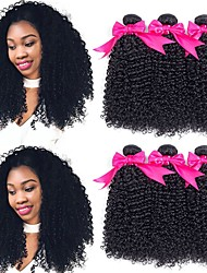 cheap -6 Bundles Malaysian Hair Curly Human Hair Natural Color Hair Weaves / Hair Bulk Human Hair Extensions 8-28 inch Natural Color Human Hair Weaves Best Quality New Arrival For Black Women Human Hair