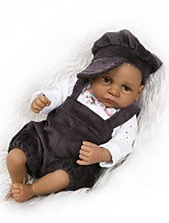 cheap -NPKCOLLECTION NPK DOLL Reborn Doll Girl Doll Baby Boy Baby Girl African Doll 12 inch Full Body Silicone Silicone - Newborn lifelike Child Safe Non Toxic Tipped and Sealed Nails Natural Skin Tone Kid's